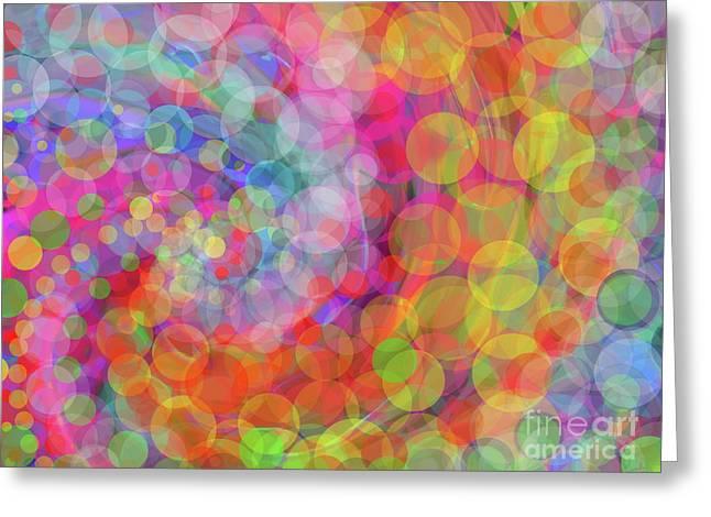 Glimmer  Greeting Card by Expressionistart studio Priscilla Batzell