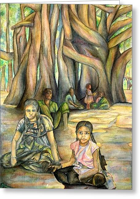 Vasile Greeting Cards - Glimmer of Hope Greeting Card by Joseph Lawrence Vasile