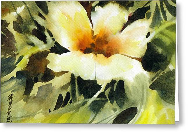 Glimpse Greeting Card by Rae Andrews