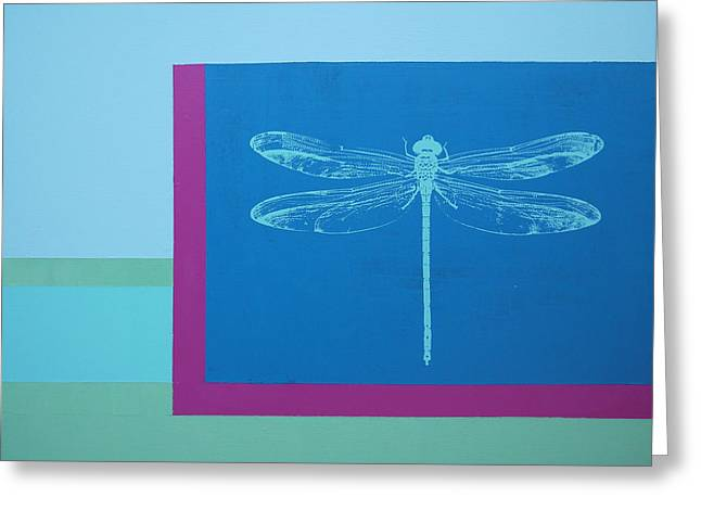 Glimspe Of Nature-dragonfly Greeting Card by Bitten Kari