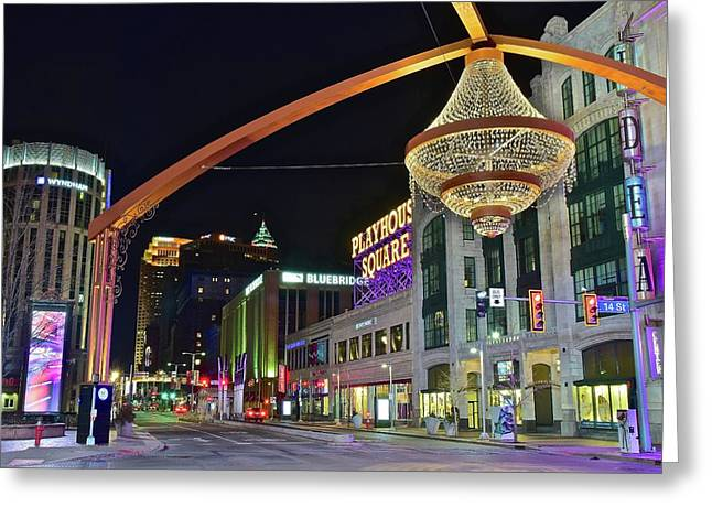 Glitz And Glamour In Cleveland Ohio Greeting Card