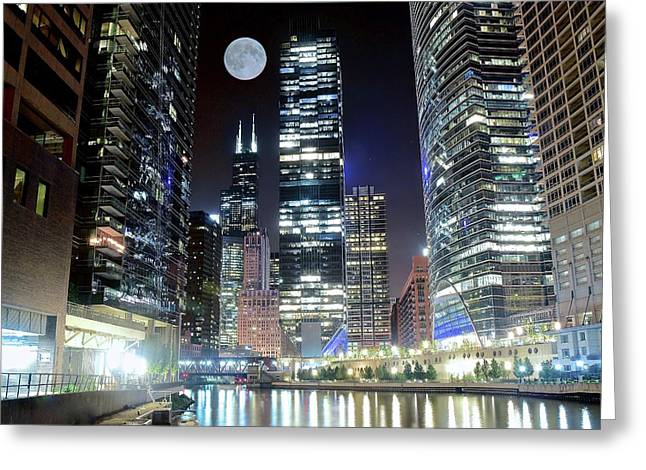 Glitz And Glamour In The Windy City Greeting Card