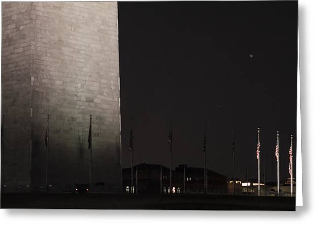 Glmpse Of The Washington Monument Greeting Card