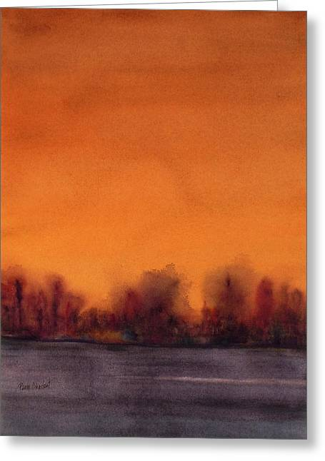 Gloaming Paintings Greeting Cards - Gloaming Greeting Card by Renee Chastant
