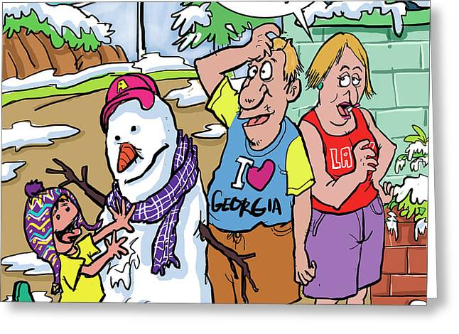 Global Warming Greeting Card by Duku Draw