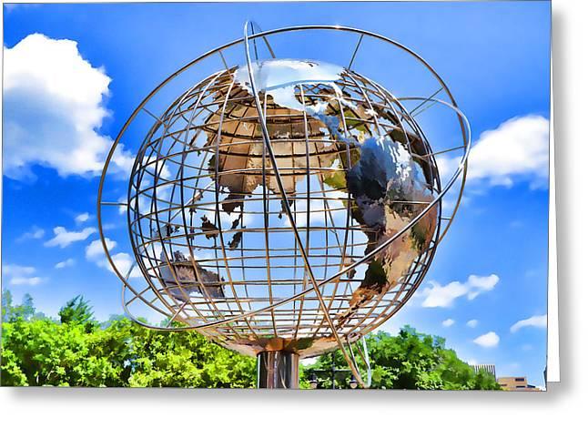 Globe At Columbus Circle Greeting Card