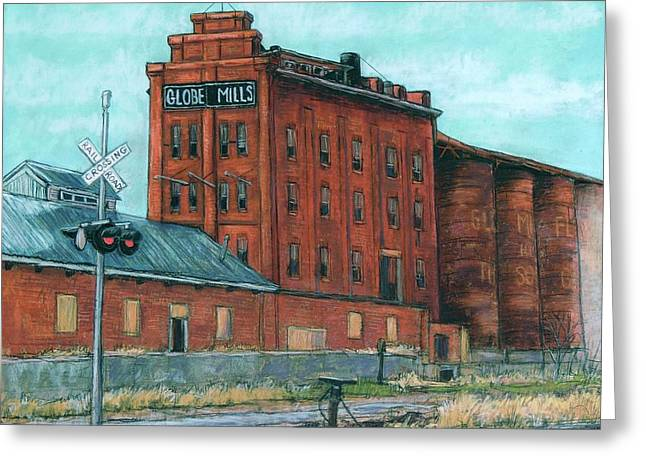 Globe Mills-the Last View Greeting Card by Candy Mayer