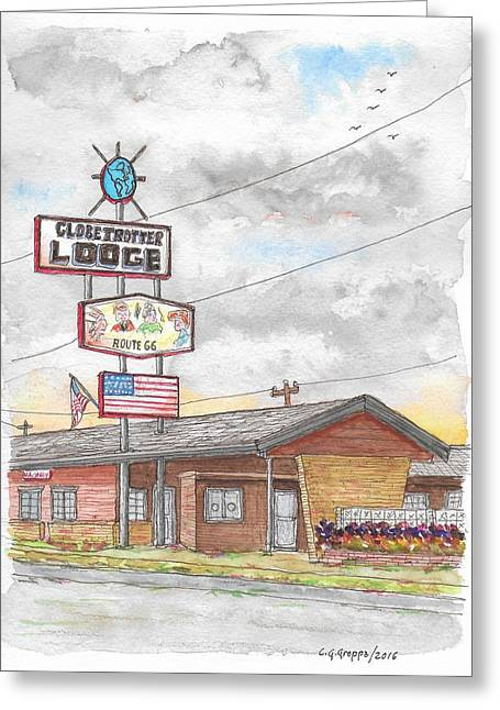 Globetrotter Lodge In Route 66, Holbrook, Arizona Greeting Card by Carlos G Groppa