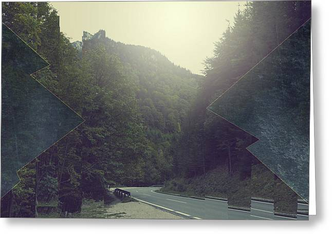 Gloomy Mountains Greeting Card