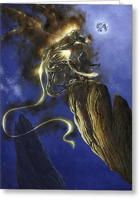 Glorfindel Versus A Balrog Of Morgoth Greeting Card by Kip Rasmussen