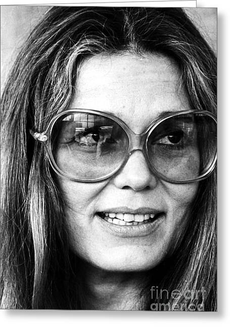 Gloria Steinem (1934-) Greeting Card