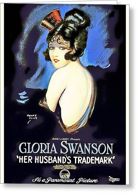 Gloria Swanson In Her Husband's Trademark 1922 Greeting Card by Mountain Dreams