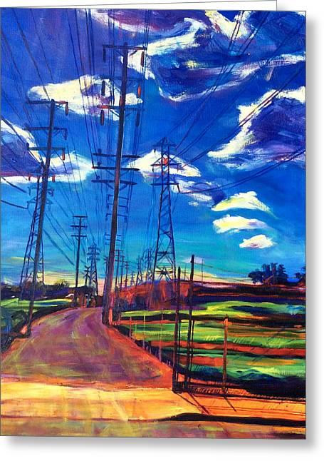 Glorious Afternoon Greeting Card by Bonnie Lambert