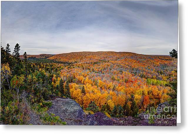 Glorious Autumn Lutsen Mountain Resort North Shore Minnesota Greeting Card