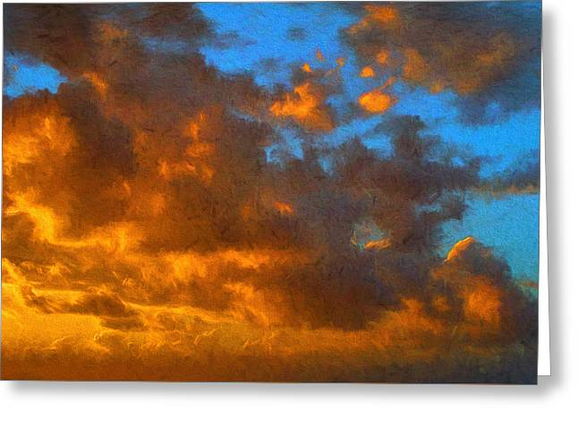 Glorious Clouds Greeting Card by Dave Bosse
