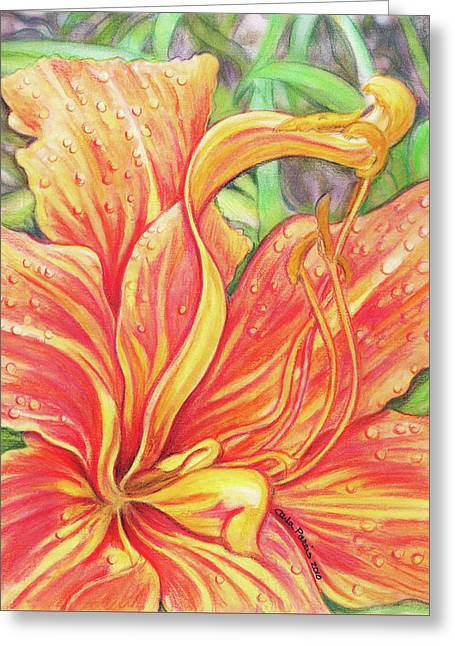 Glorious Daylily Greeting Card by Carla Parris
