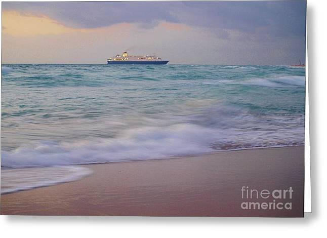Glorious Emerald Sea Greeting Card by E Luiza Picciano