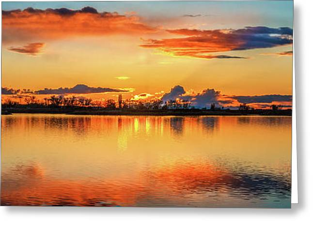 Greeting Card featuring the photograph Glorious Evening by Robert Bales