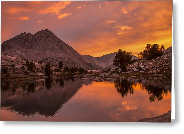 Glorious Sierra Sunset Greeting Card
