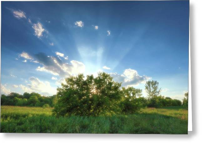 Greeting Card featuring the photograph Glorious Sky - A by Anthony Rego
