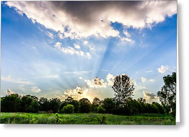 Greeting Card featuring the photograph Glorious Sky - B by Anthony Rego