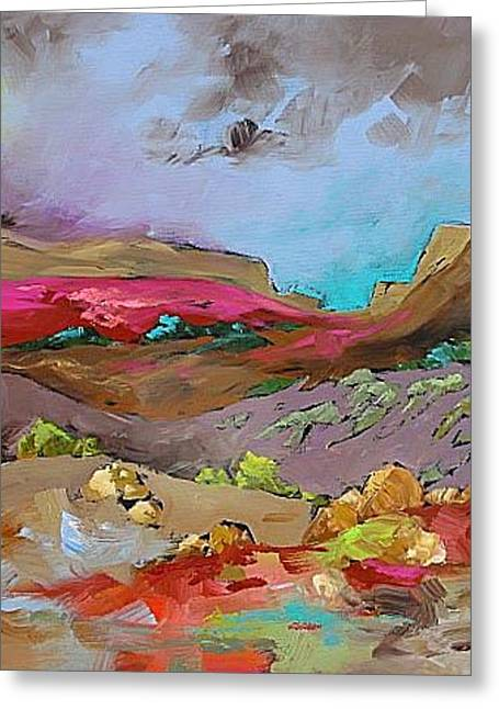 Glorious Southwest Greeting Card by Linda Monfort