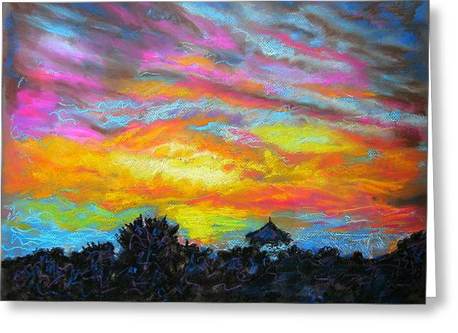 Glorious Sunset 1 Greeting Card by Laura Heggestad