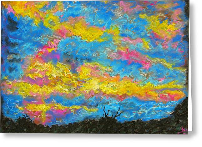 Glorious Sunset 2 Greeting Card by Laura Heggestad