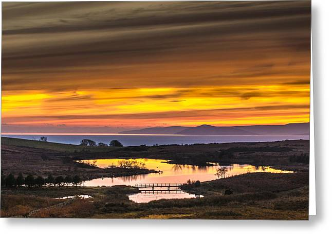 Glorious Sunset Over Fairlie Moor Greeting Card