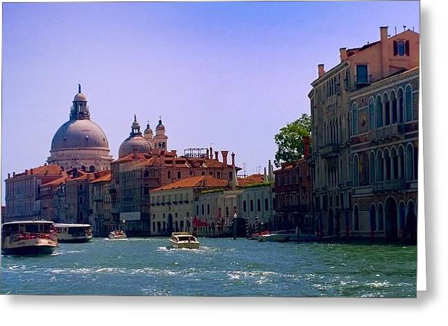 Greeting Card featuring the photograph Glorious Venice by Anne Kotan