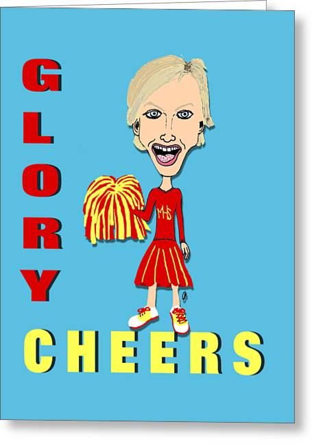 Glory Cheers Greeting Card