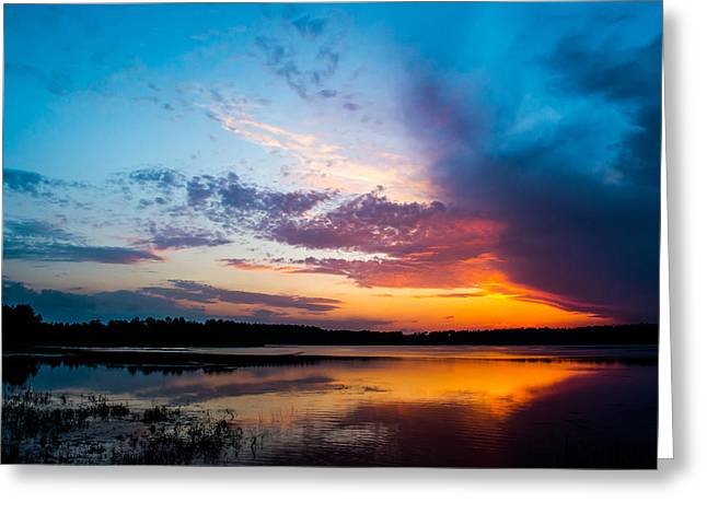 Glory In The Sky Greeting Card by Shelby  Young