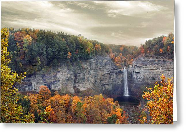 Glory Of Taughannock Greeting Card by Jessica Jenney