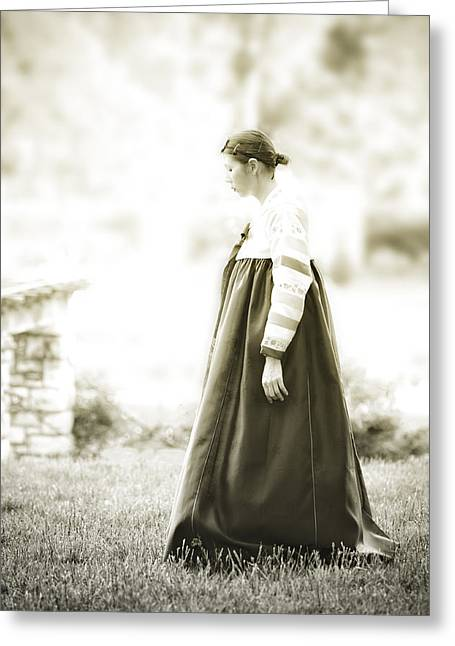 Woman In A Dress Photographs Greeting Cards - Glory of Tradition Greeting Card by Kris Hanke