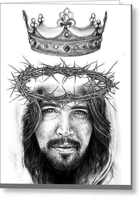Glory To The King Greeting Card