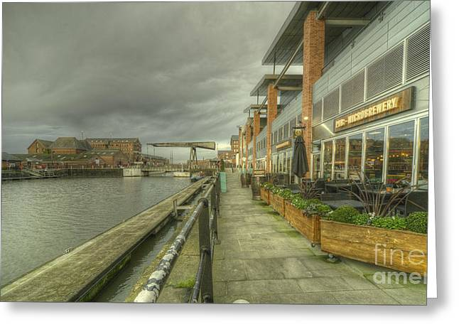 Gloucester Brewhouse  Greeting Card by Rob Hawkins