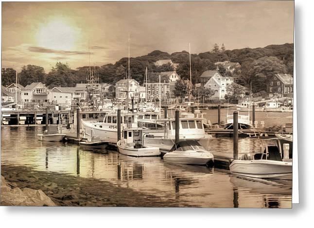 Gloucester Harbor Greeting Card