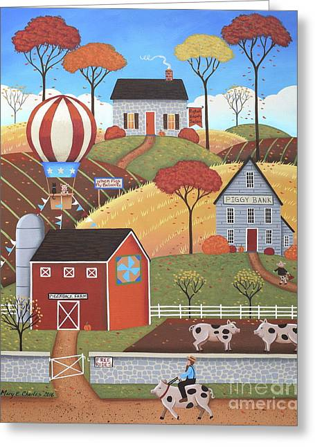 Gloucestershire Village Greeting Card by Mary Charles