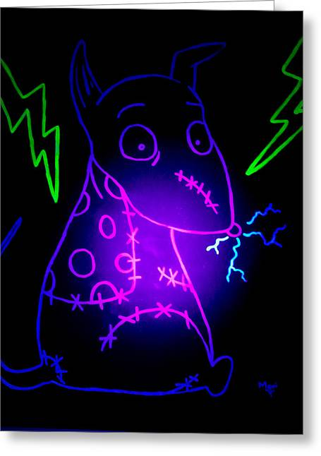 Glow Frankenweenie Sparky Greeting Card
