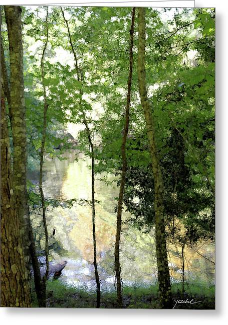 Glow Of Silence Greeting Card by Isartdesign By Isabella Schnittger