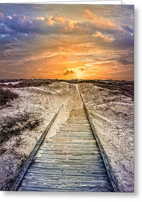 Glow On The Dunes Greeting Card