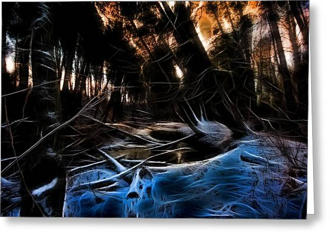 Greeting Card featuring the photograph Glow River by Michaela Preston