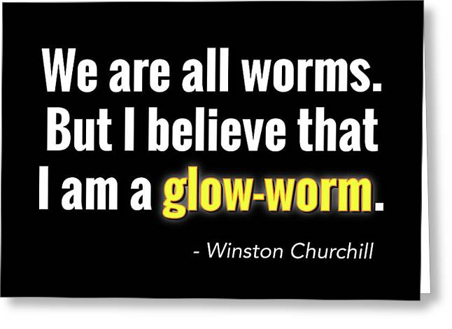 Glow Worm Greeting Card