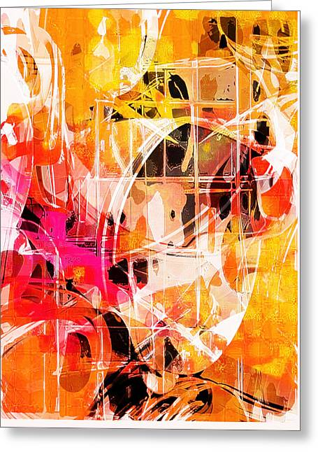 Glowing Abstract  Greeting Card by Tom Gowanlock