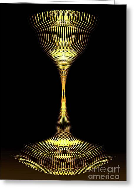 Glowing Brass Lamp Stand Greeting Card