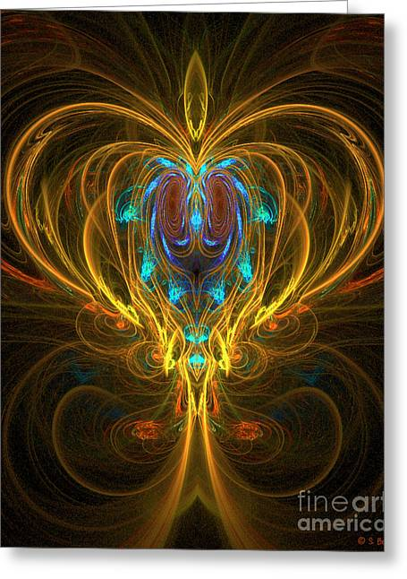 Glowing Chalise Greeting Card by Sandra Bauser Digital Art