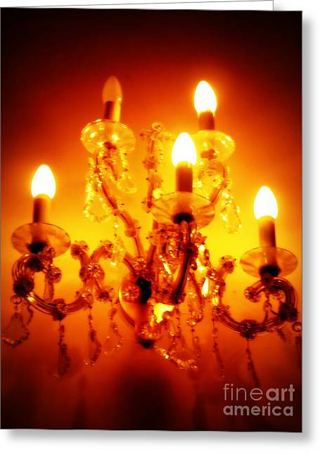 Glowing Chandelier Greeting Card
