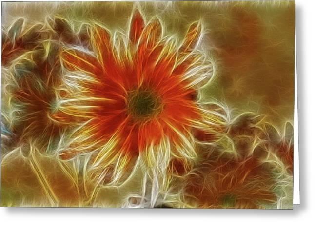 Glowing Flower Greeting Card