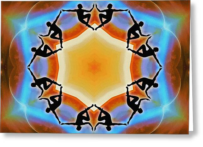 Greeting Card featuring the digital art Glowing Heartfire by Derek Gedney