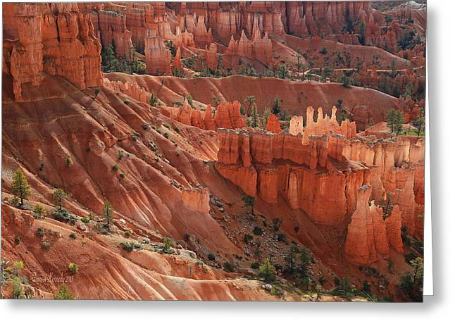 Greeting Card featuring the photograph Glowing Hoodoos by Donna Kennedy